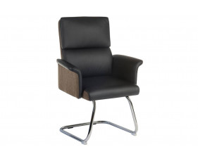 Panache Leather Look Visitor Chair (Black)