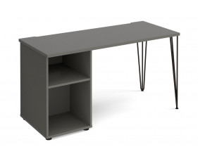 Valentine Rectangular Home Office Desk With Pedestal
