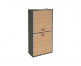 Valentine Tall Home Office Double Door Cupboard