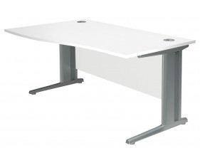 Next-Day Illusion Deluxe C-Leg Left Hand Wave Desk