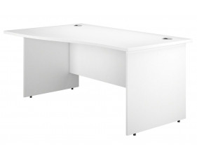 Next-Day Illusion Panel End Left Hand Wave Desk White