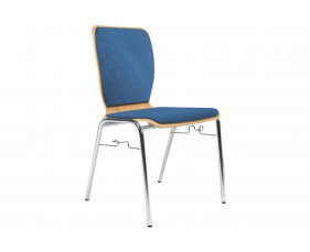 Pack of 4 Cooper Side Chairs With Link & Upholstered Seat & Back