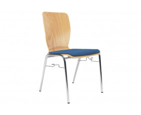 Pack of 4 Cooper Side Chairs With Link & Upholstered Seat