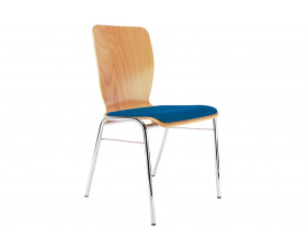 Pack of 4 Cooper Side Chairs With Upholstered Seat