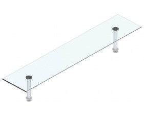 F - Welcome rectangular glass shelf