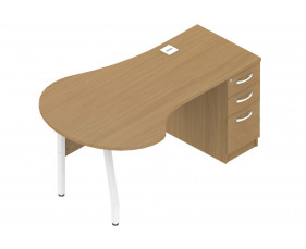 Allure clerical desk with meeting table