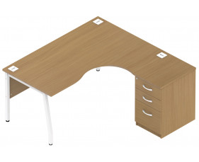 Allure Ergonomic Pedestal Desk