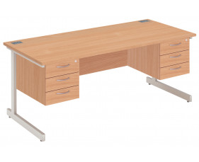 Proteus I Executive Desk 3+3 Drawers