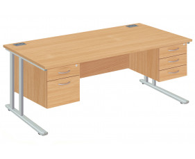 Proteus II Executive Desk 2+3 Drawers