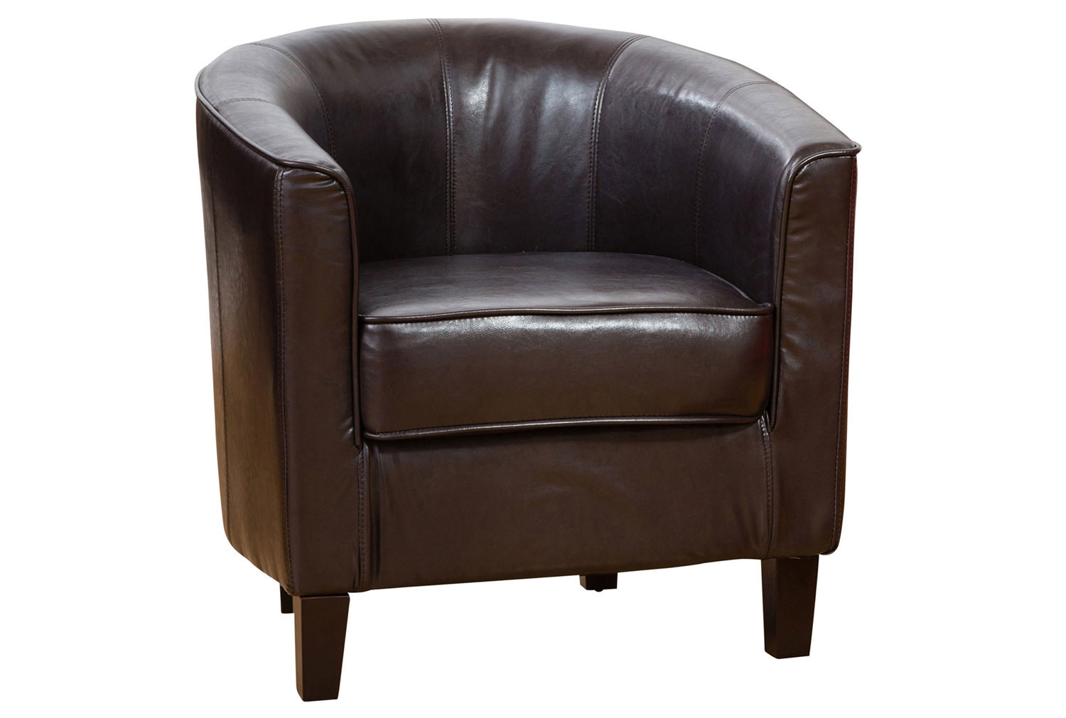 Westwood Faux Leather Tub Chair