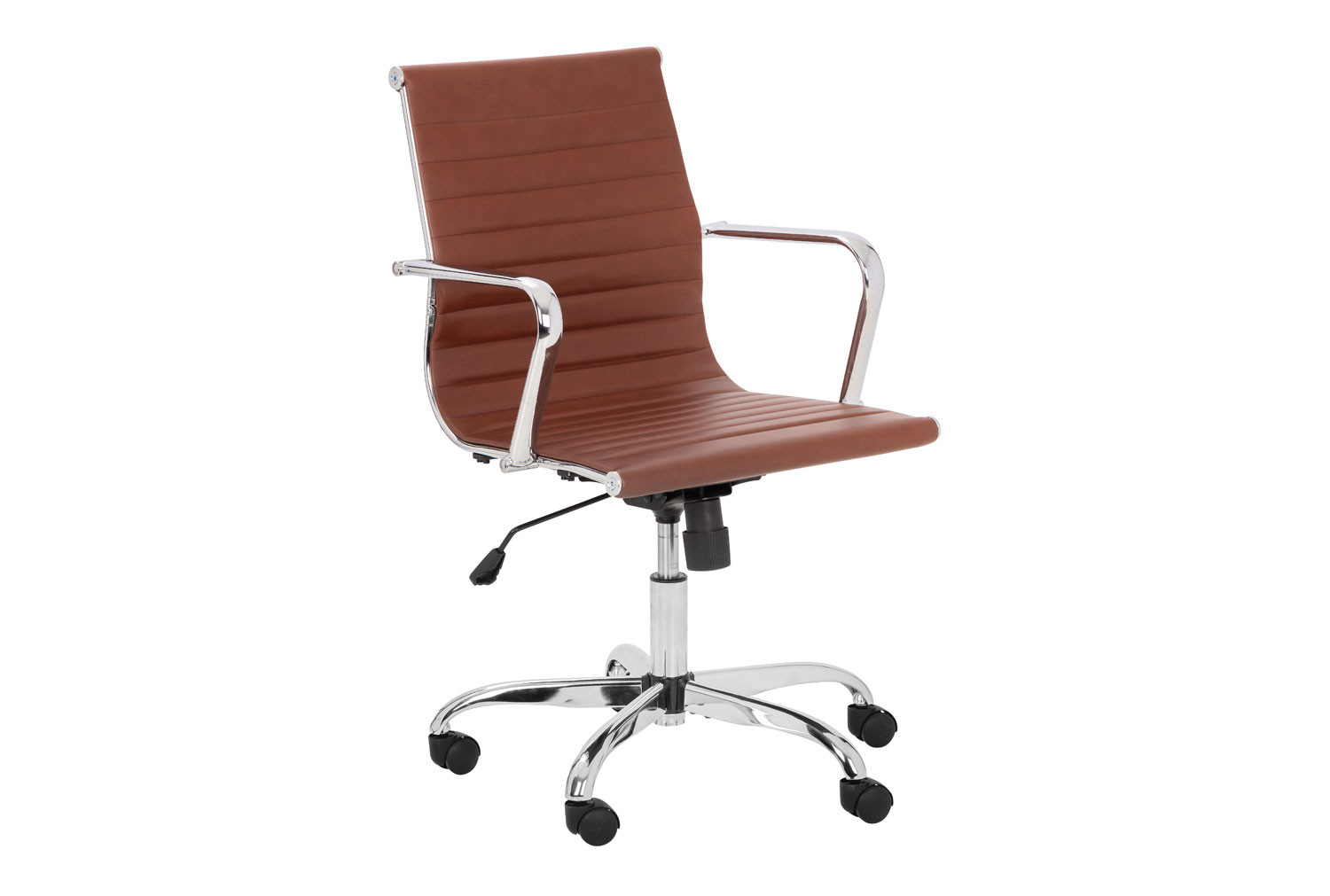 Geston Faux Leather Executive Brown Chair
