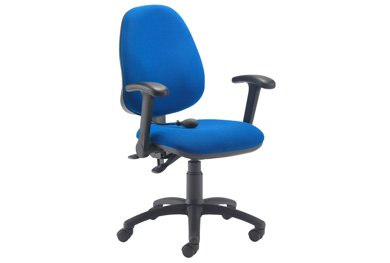 Orchid Lumbar Pump Ergonomic Operator Chair With Folding Arms