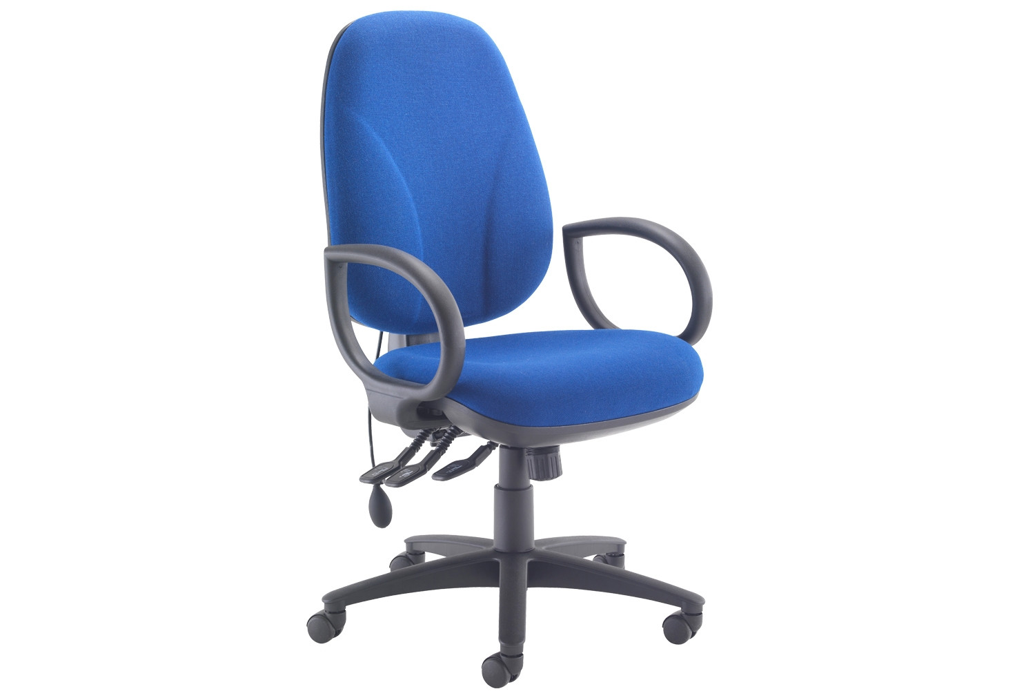 Next-Day Orchid Deluxe Lumbar Pump Ergonomic Operator Chair With Fixed Arms