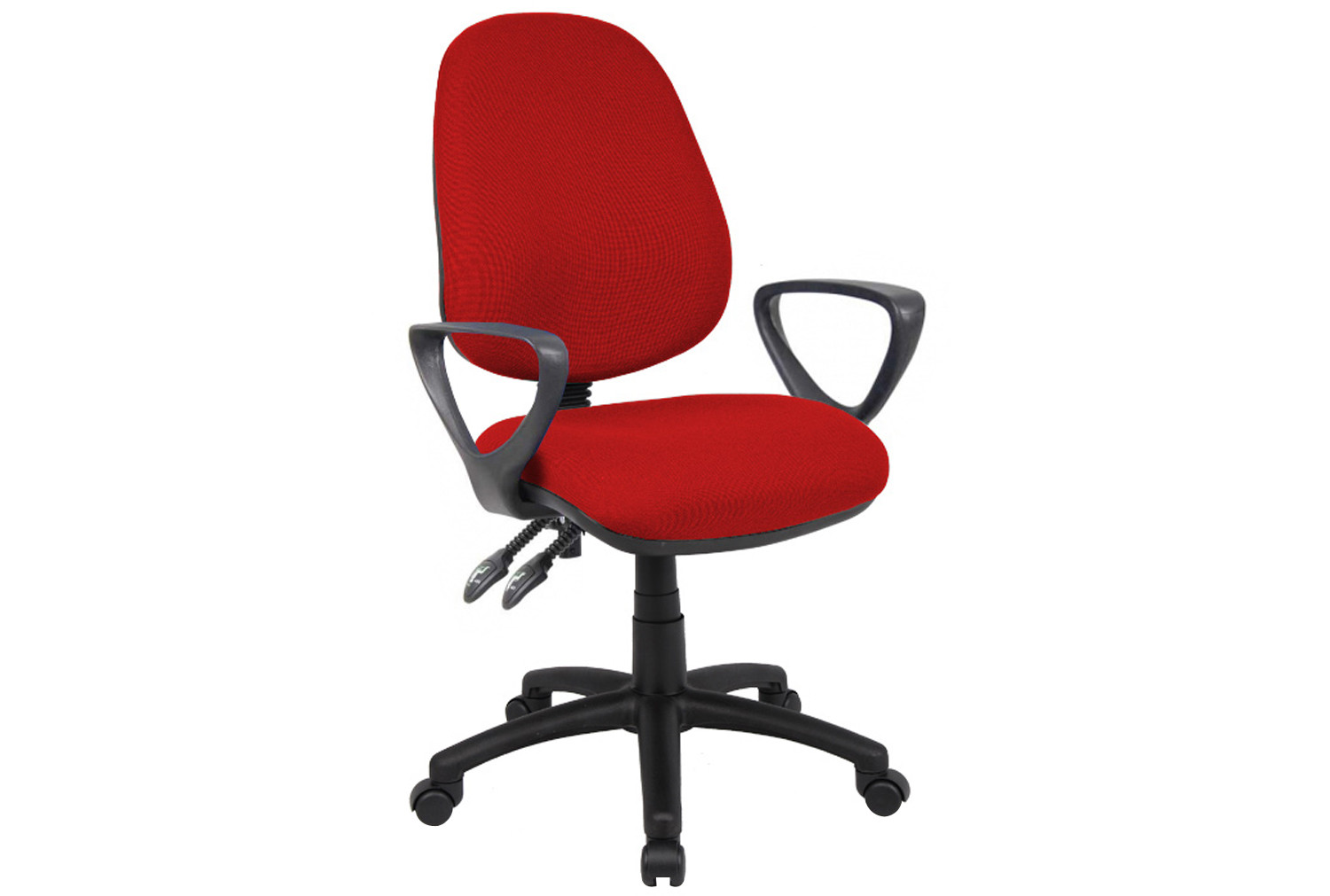 Full Lumbar 2 Lever Operator Chair With Fixed Arms