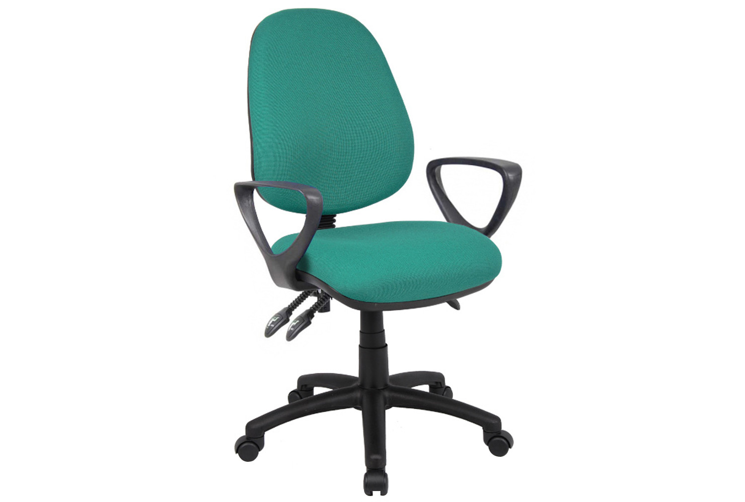 Full Lumbar 3 Lever Operator Chair With Fixed Arms