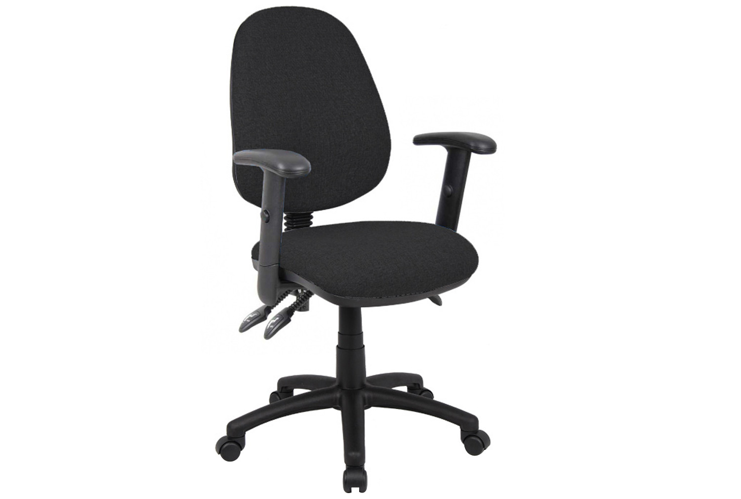 Full Lumbar 3 Lever Operator Chair With Adjustable Arms
