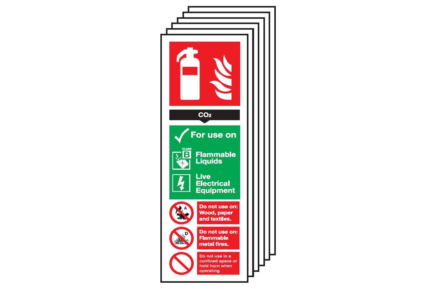 Co2 Fire Extinguisher Sign (Multipack)