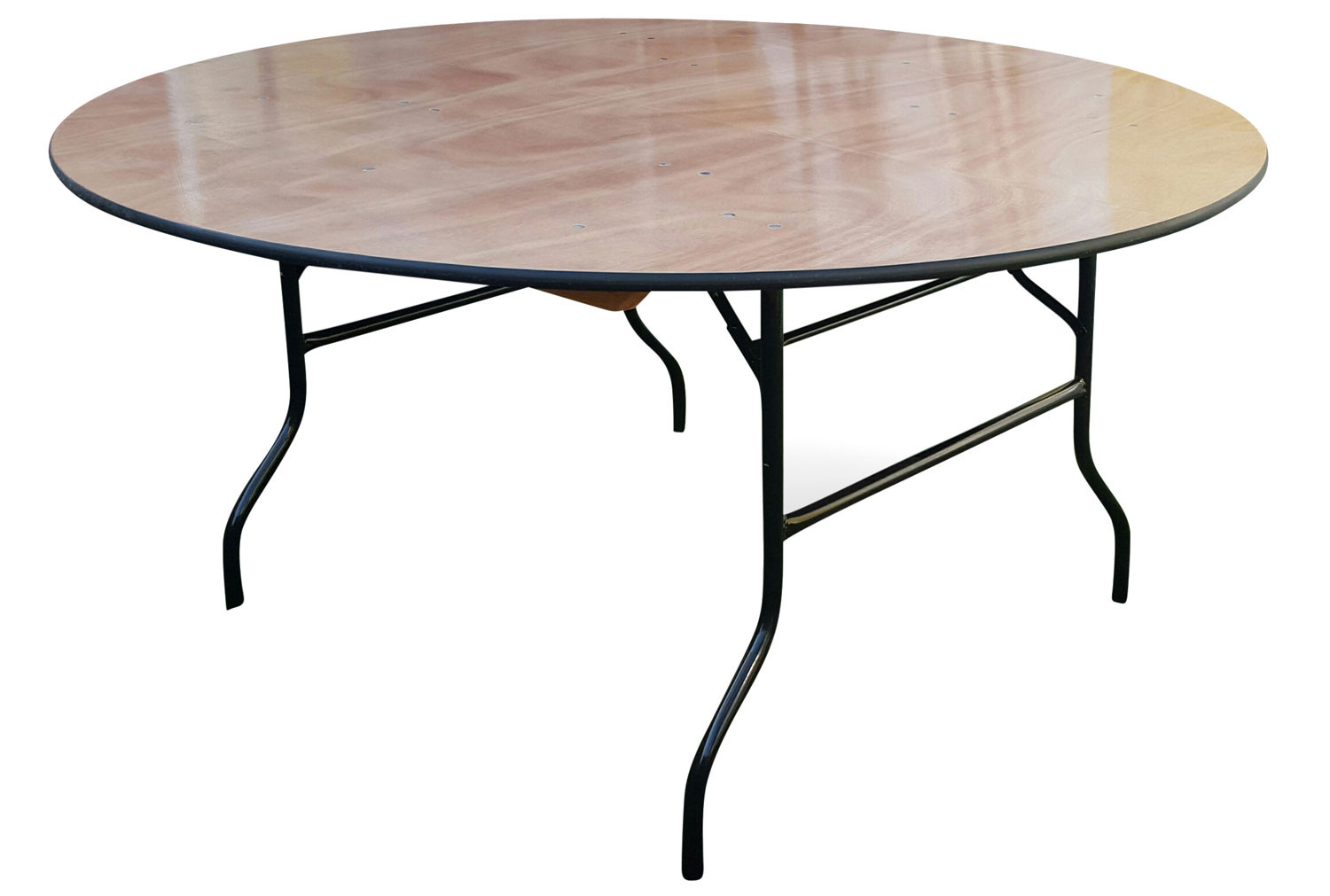 Suttner Round Folding Trestle Table
