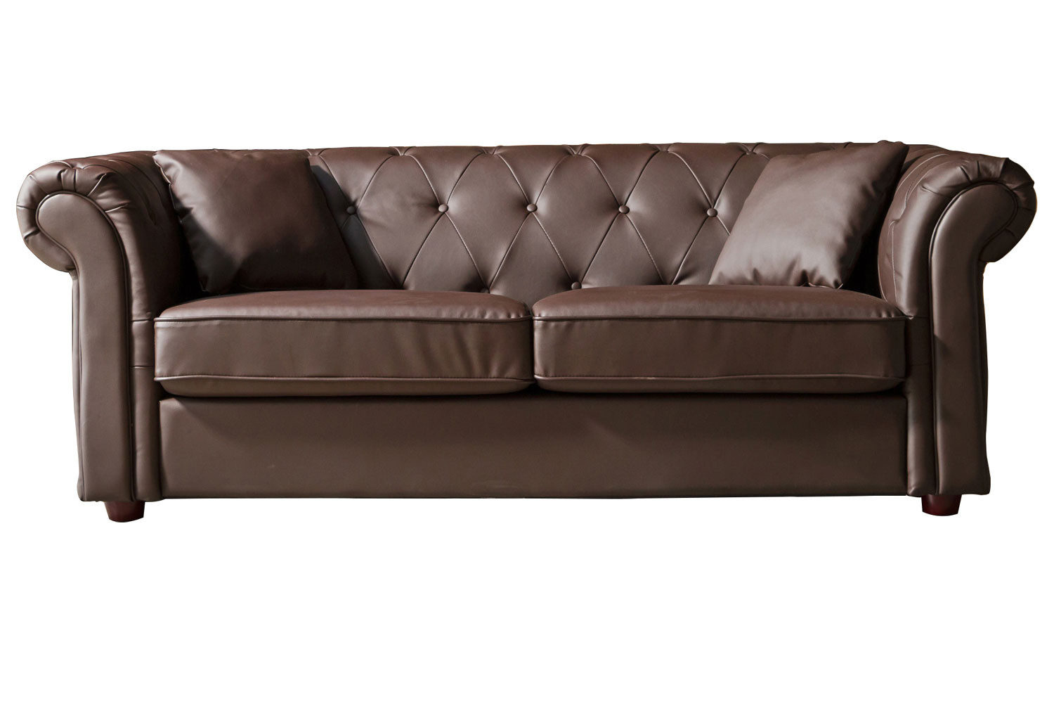 Chesterfield Leather 3 Seater Sofa