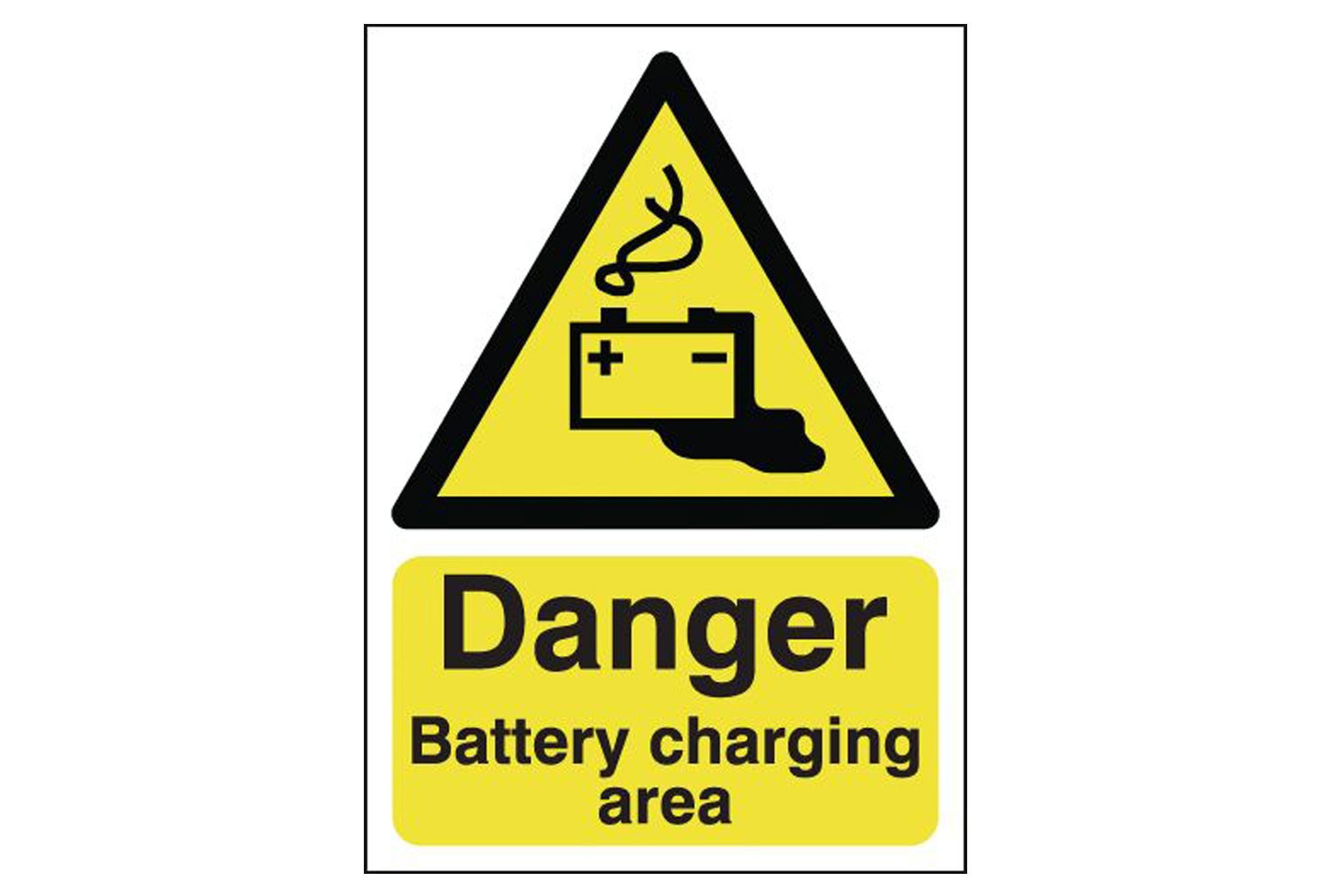 Danger Battery Charging Area Safety Sign