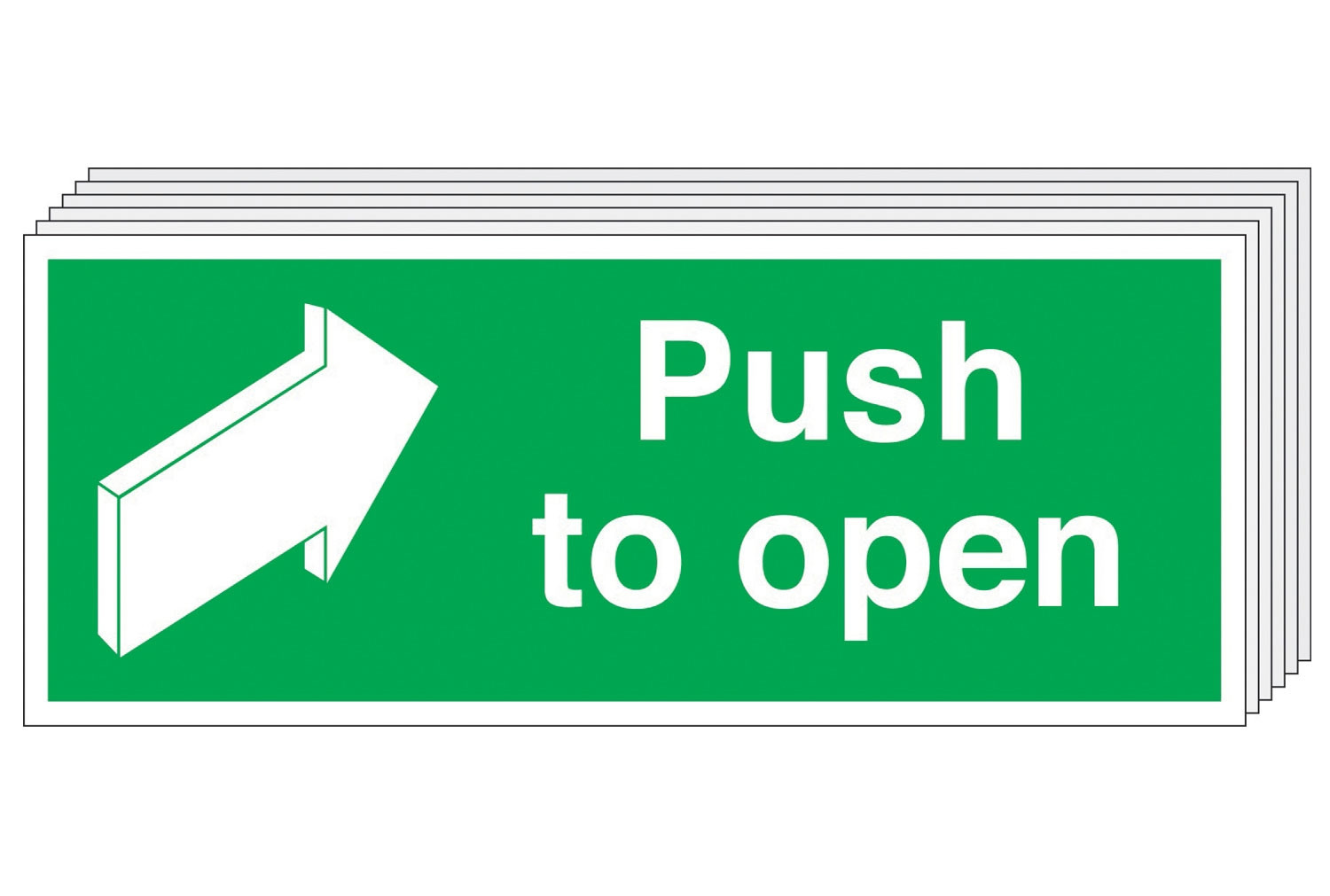 Push To Open Safety Sign (Multipack)