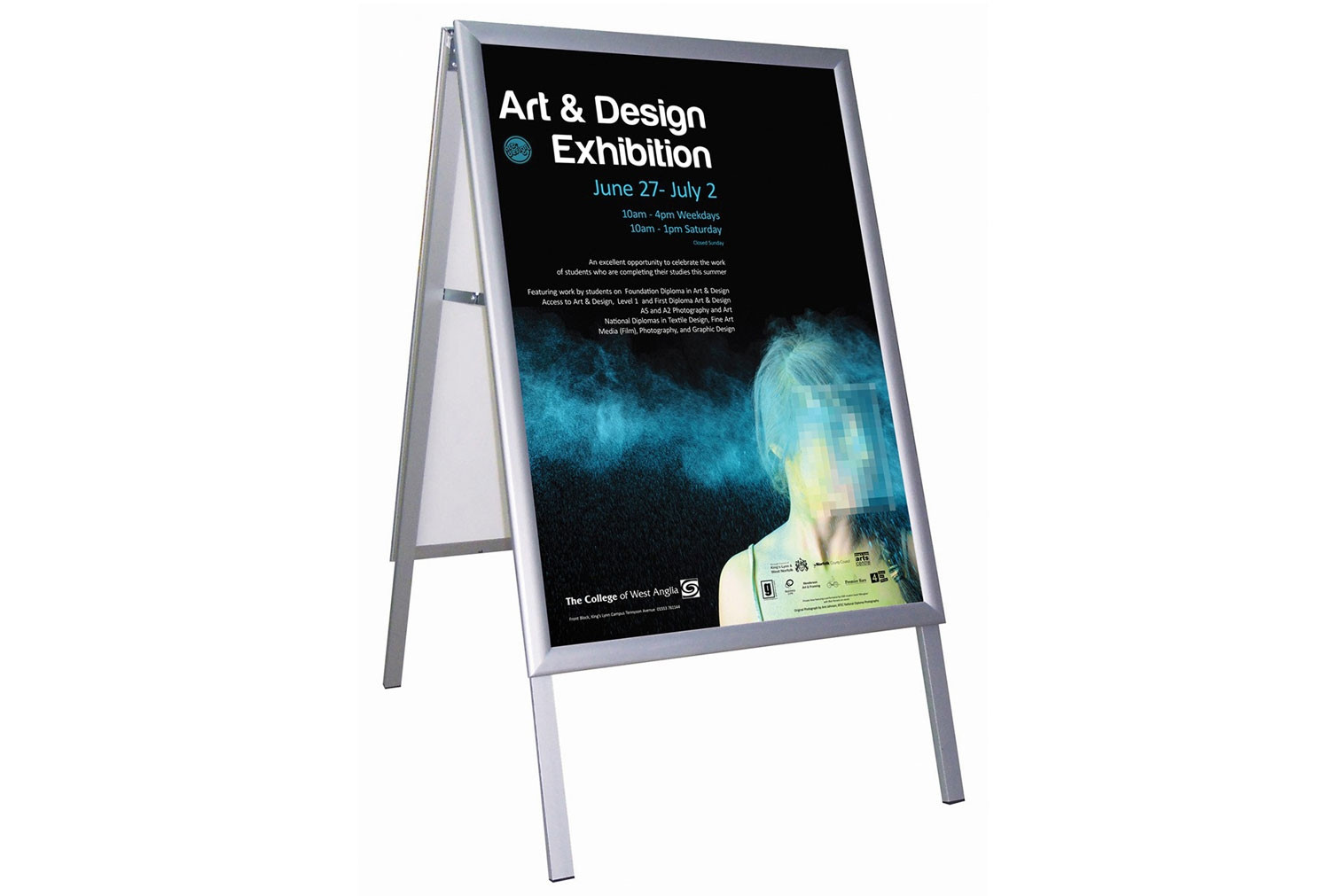 Next-Day Busygrip Freestanding Poster Frame (Outdoor Use)