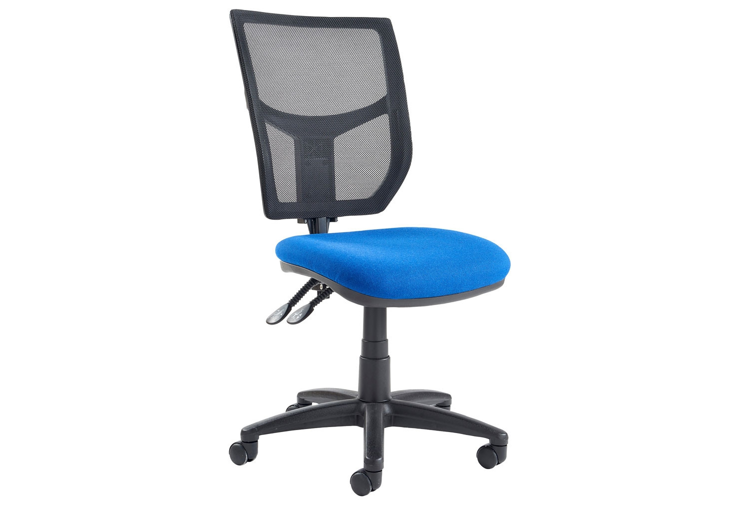 Gordy 2 Lever Mesh Back Operator Chair No Arms (Blue)