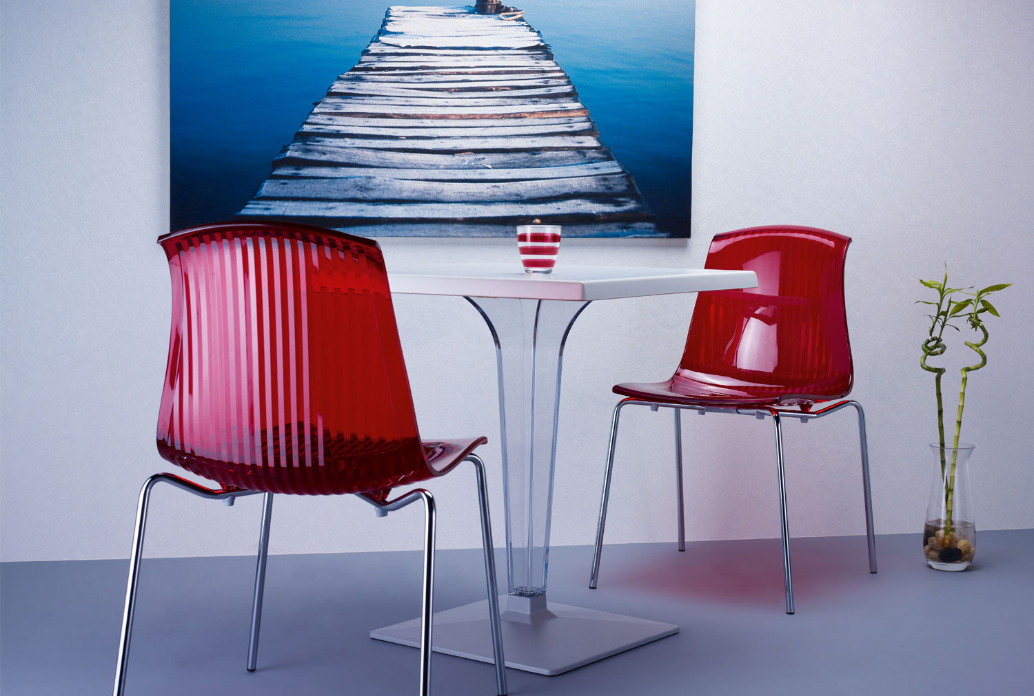 Pack Of 4 Aster Side Chairs (Chrome Legs)