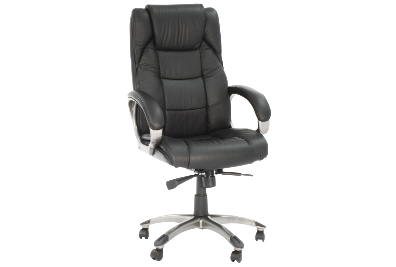 Clipper Black Leather Faced Executive Chair
