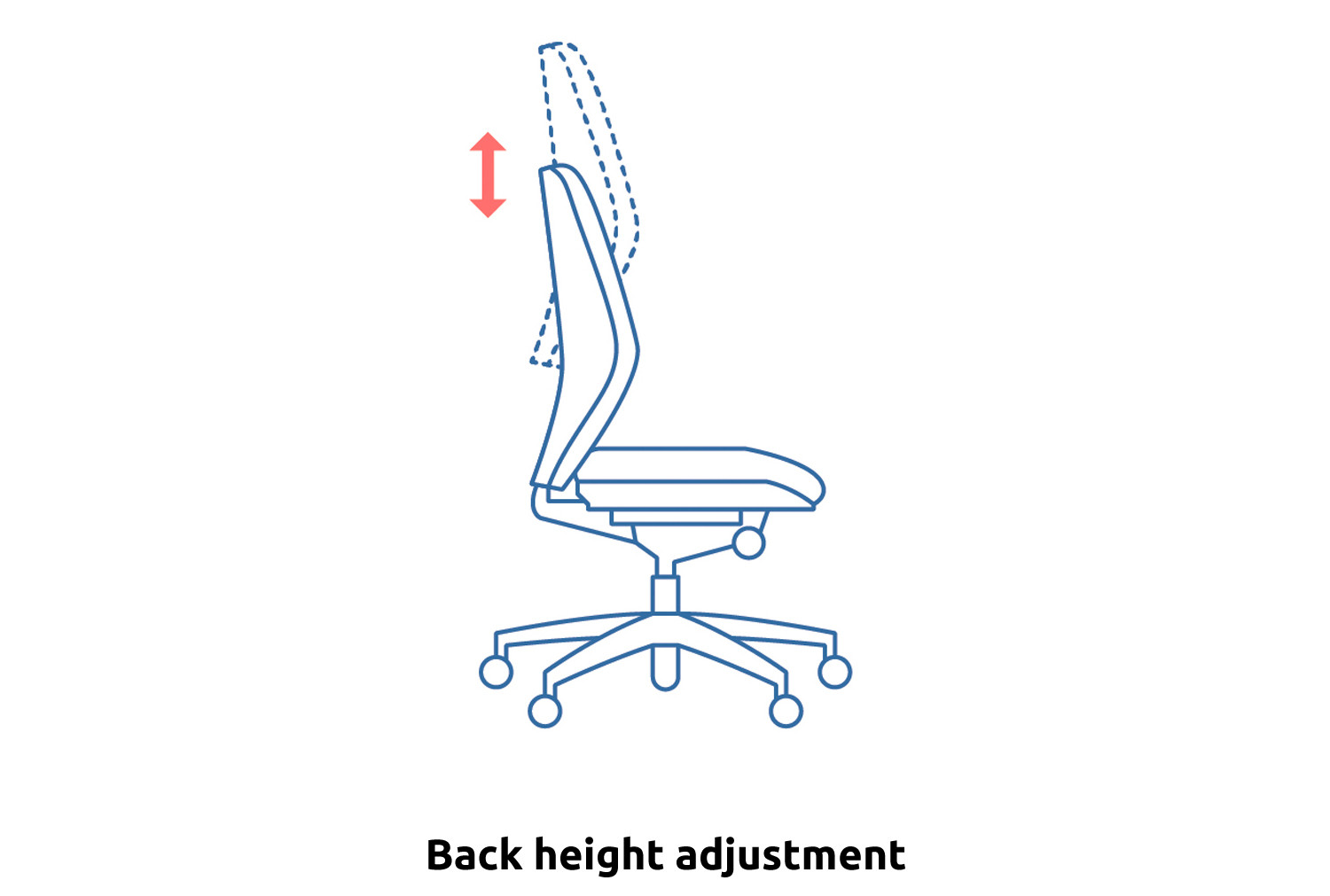 Polnoon Extra High Back Operator Chair With Folding Arms