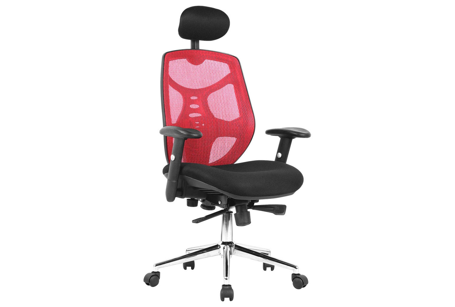 Dornock Red Mesh Back Executive Chair With Headrest