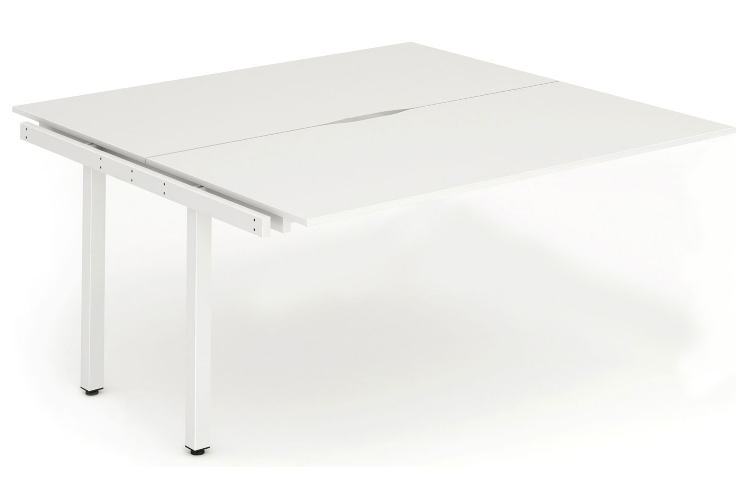 Pamola Back To Back Add On Bench Desk (White Legs)
