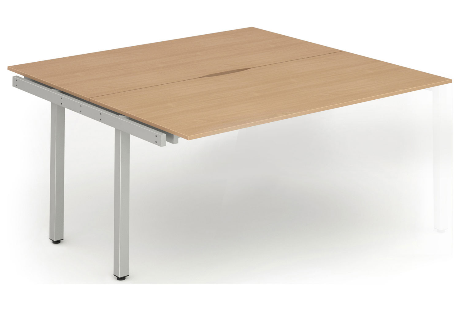 Pamola Back To Back Add On Bench Desk (Silver Legs)