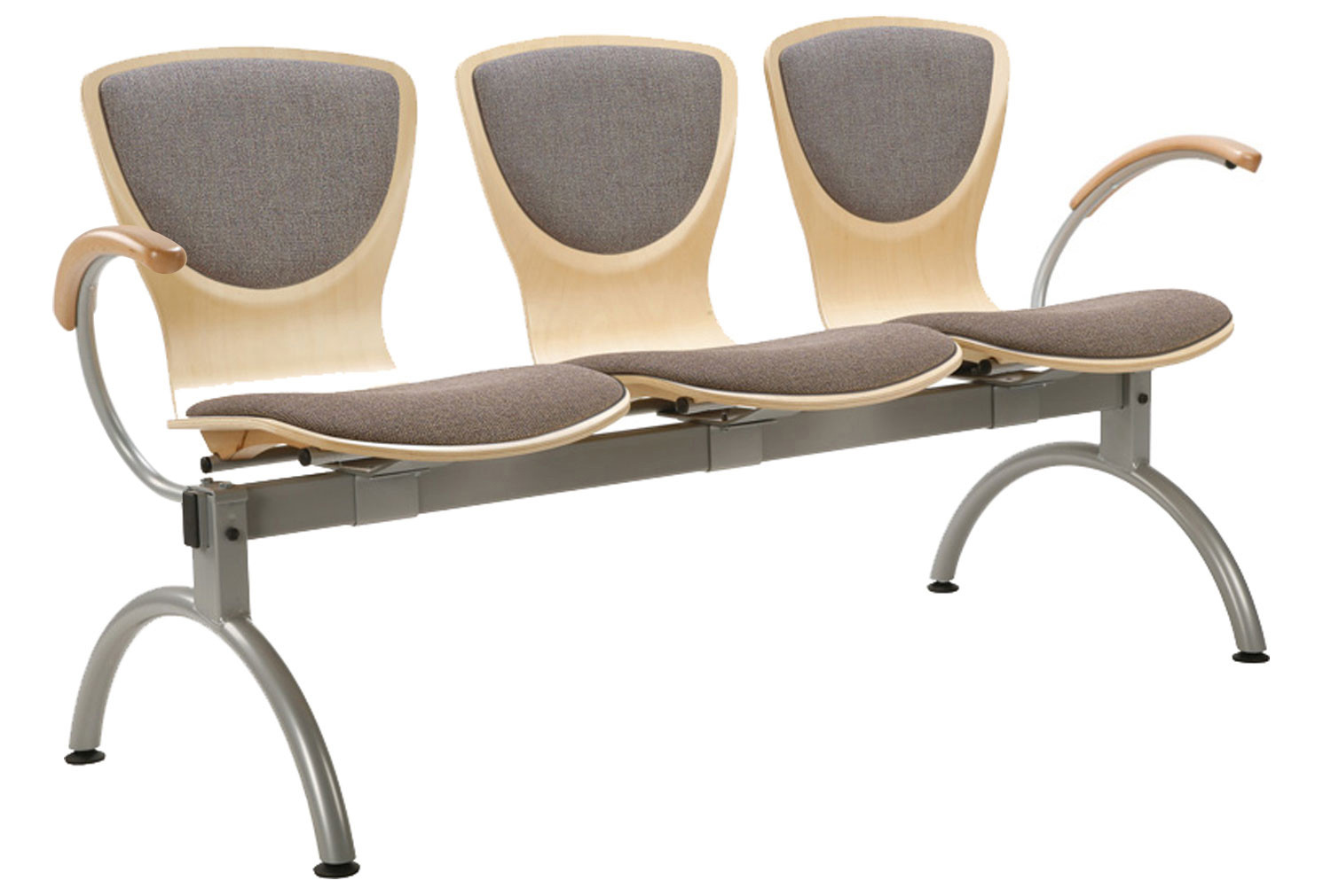 Serena 3 Person Beam Seating With Upholstered Seat Back Furniture At Work
