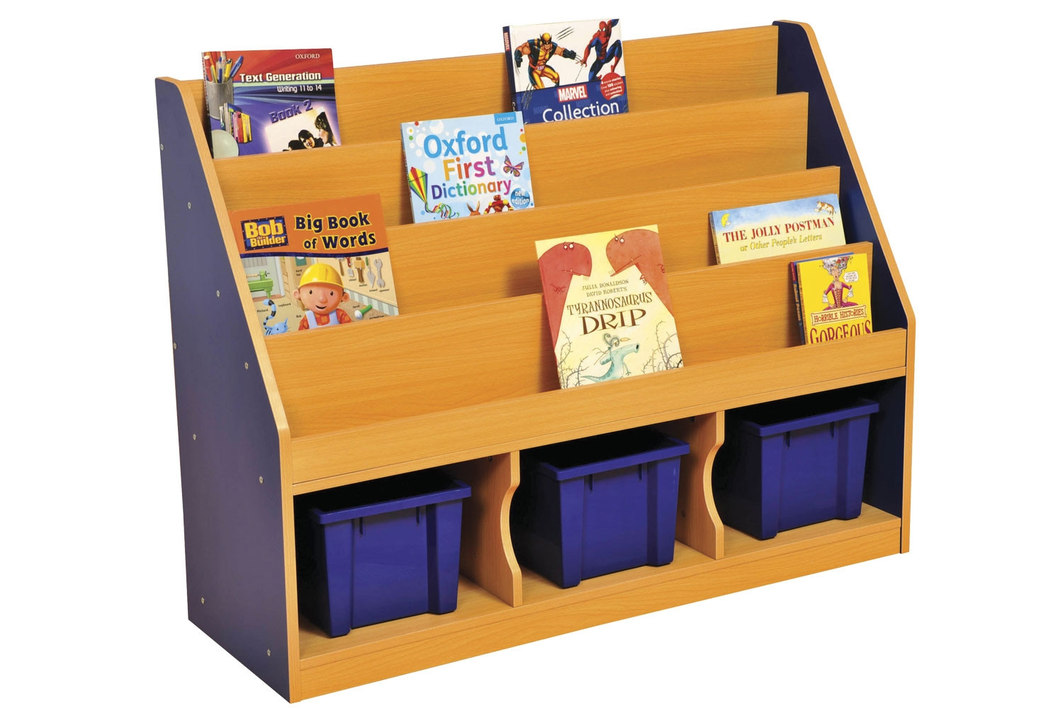 Milan Tiered Bookcase With 3 Trays