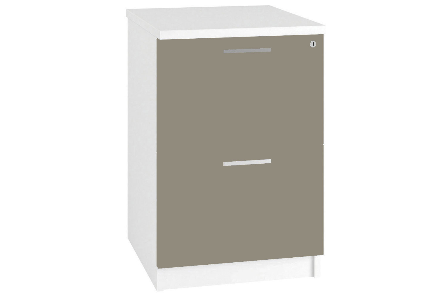 Illusion 2 Drawer Filing Cabinet Stone Gloss