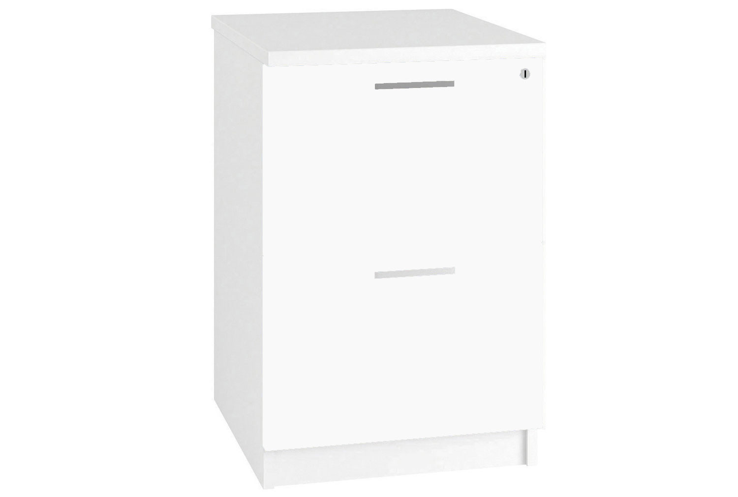 Illusion 2 Drawer Filing Cabinet White Gloss