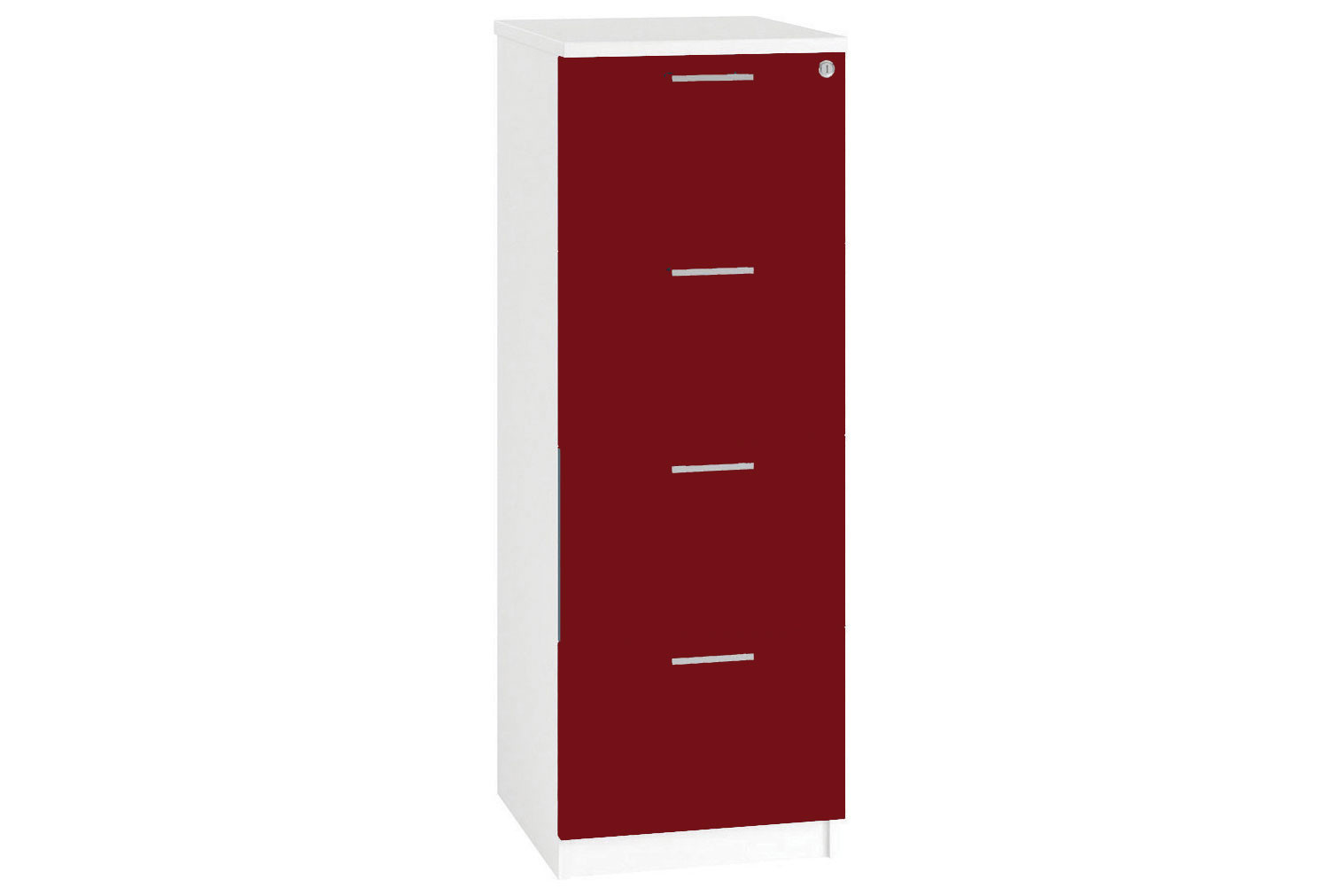 Illusion 4 Drawer Filing Cabinet Burgundy Gloss