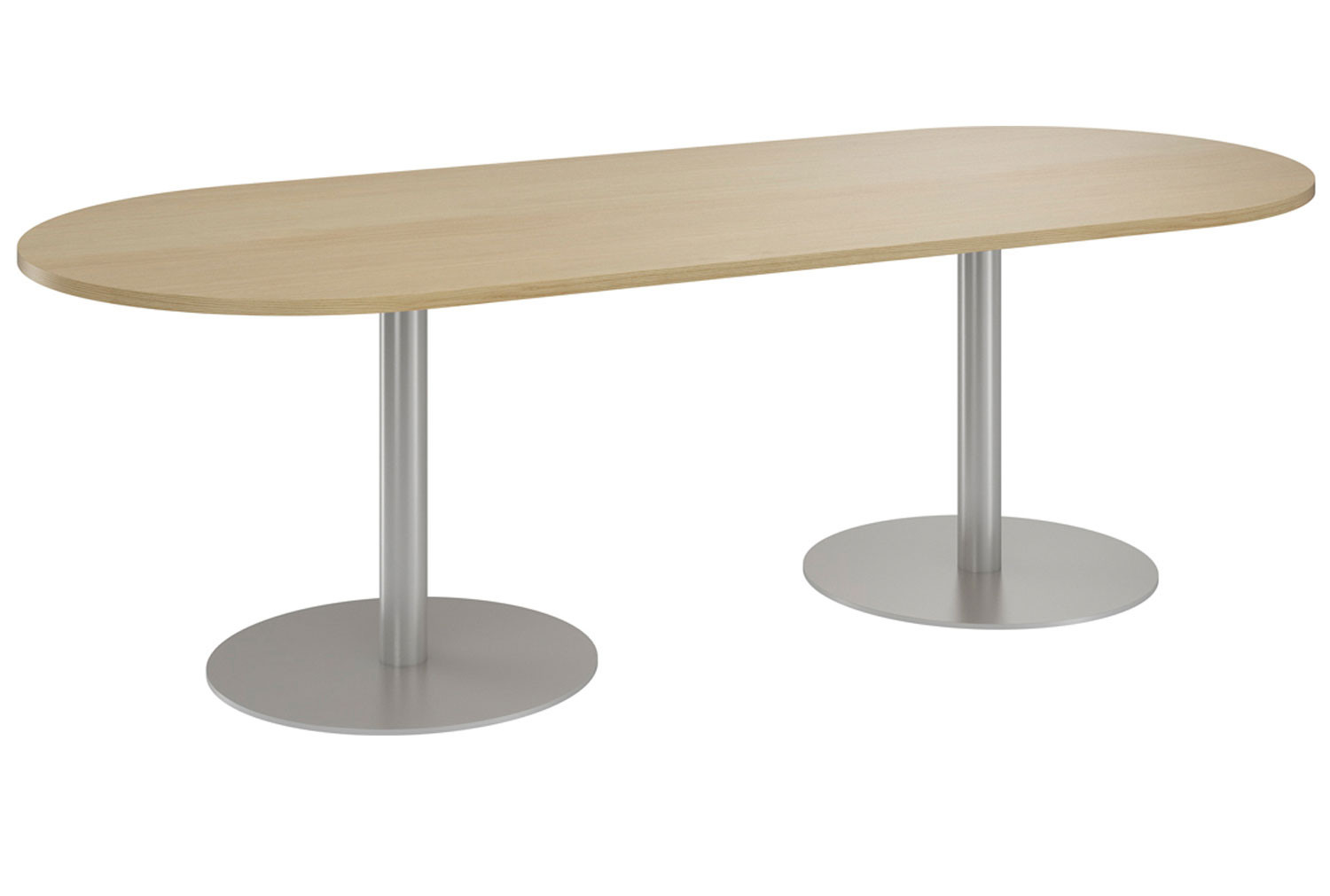 Next-Day Lozano D End Meeting Table (Natural Oak)
