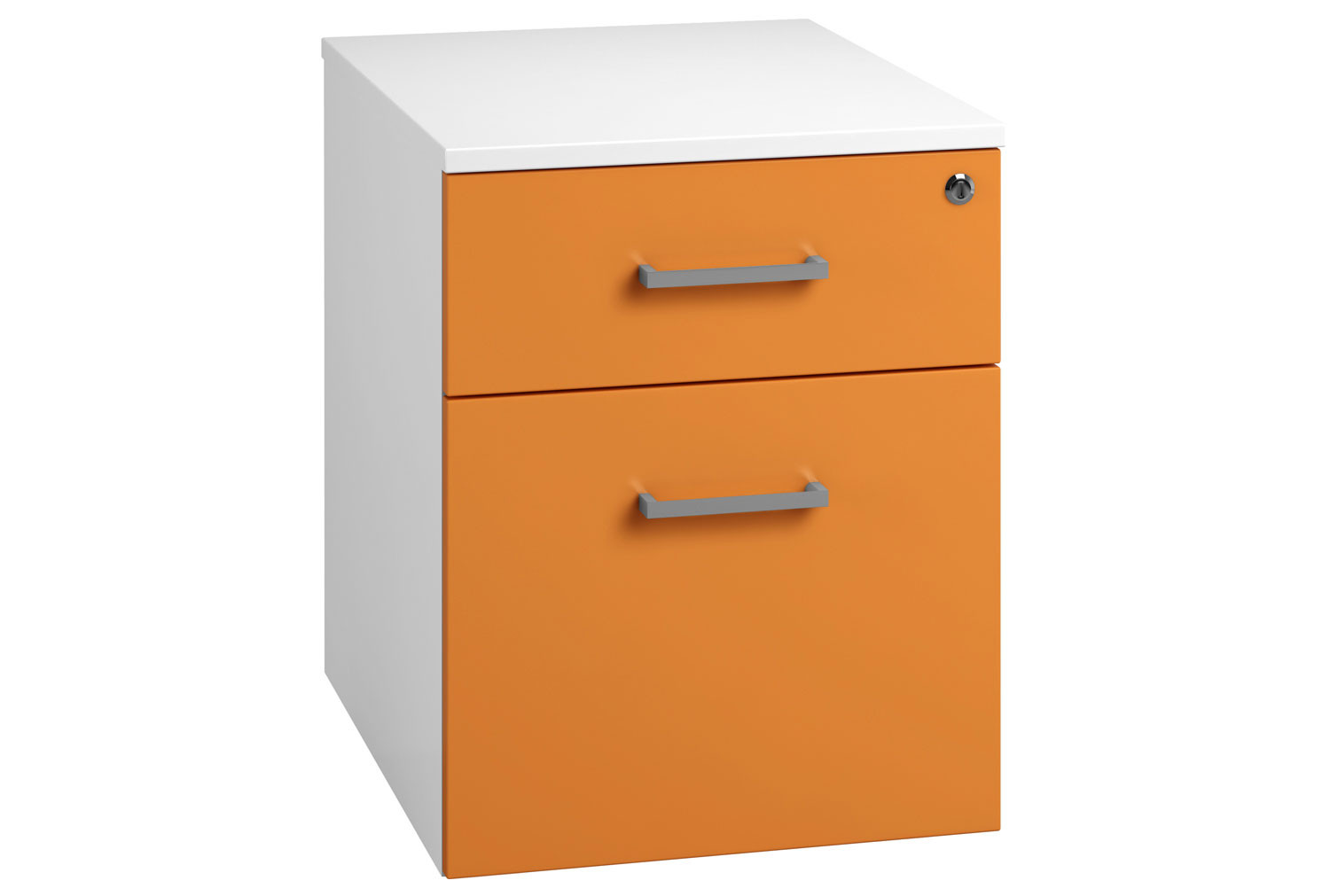 Solero Low Mobile 2 Drawer Pedestal (Orange)