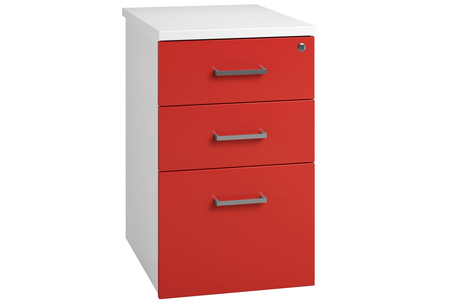 Solero Desk High Pedestal (Red)
