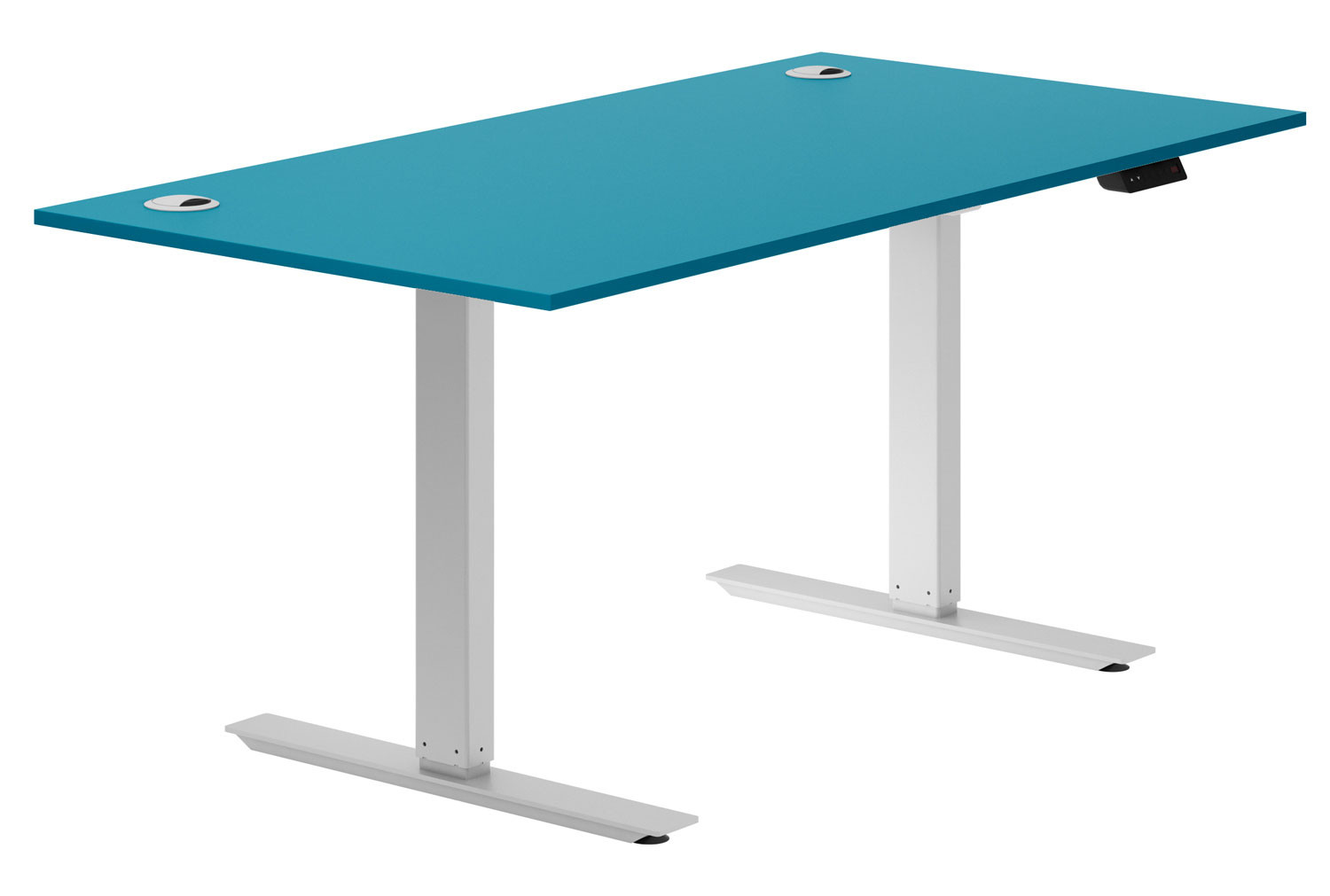 Solero Sit & Stand Desk (Light Blue)
