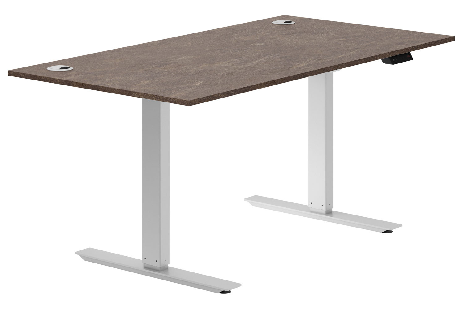 Lasso Sit & Stand Desk (Pitted Steel)