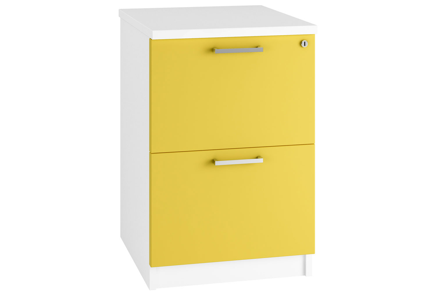 Solero 2 Drawer Filing Cabinet (Yellow)