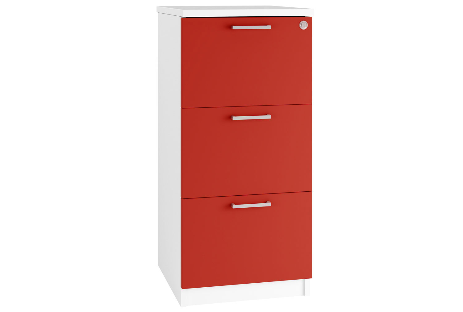 Campos 3 Drawer Filing Cabinet (Red)