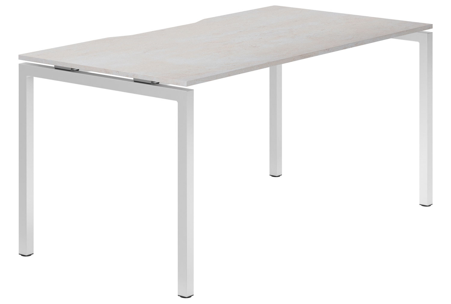 Lasso H-Leg Single Bench Desk (Concrete)