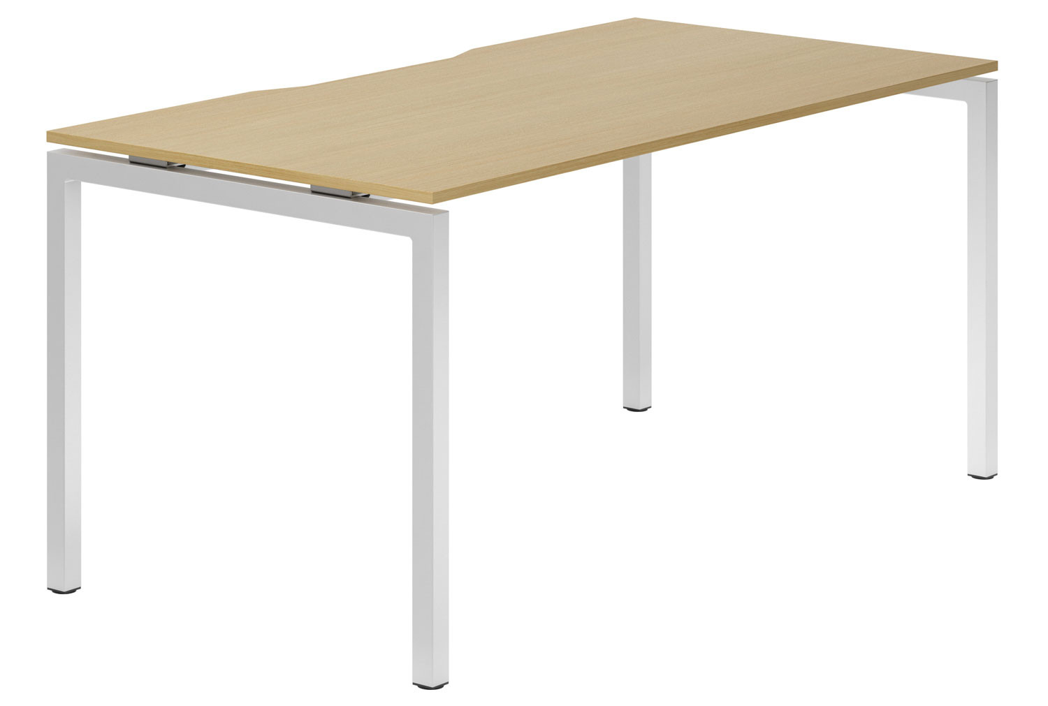 Lozano H-Leg Single Bench Desk (Natural Oak)