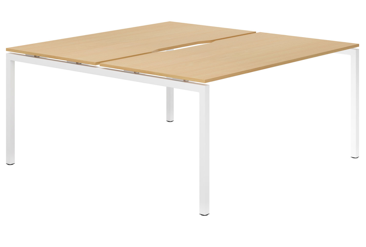 Lozano H-Leg 2 Person Back To Back Bench Desk (Beech)