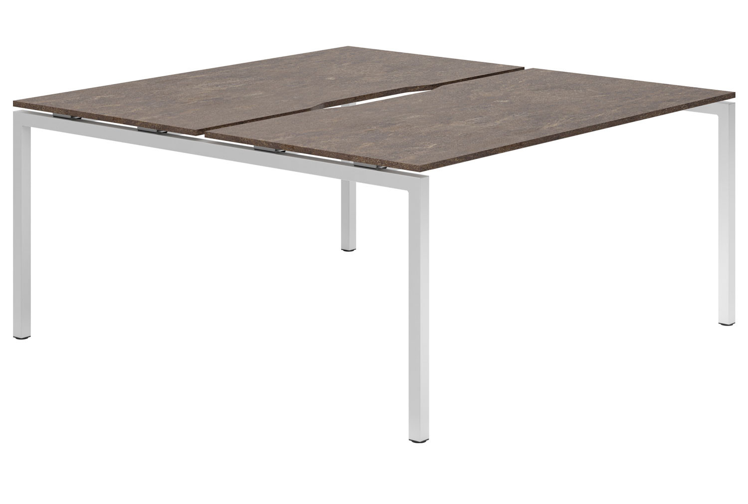 Lasso H-Leg 2 Person Back To Back Bench Desk (Pitted Steel)