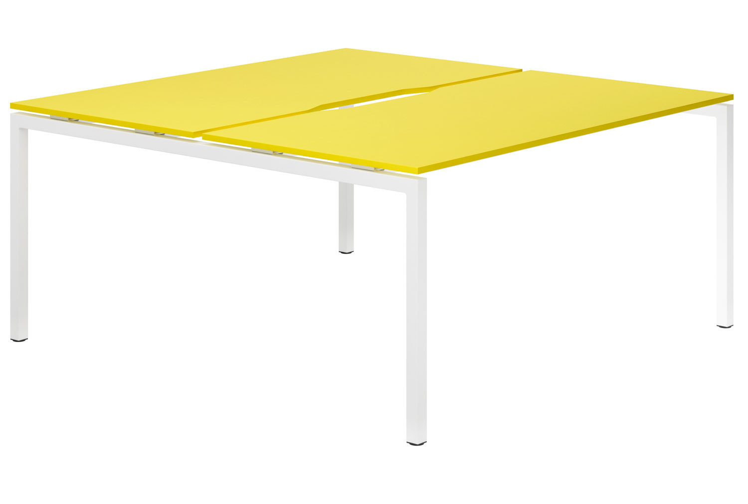 Campos H-Leg 2 Person Back To Back Bench Desk (Yellow)